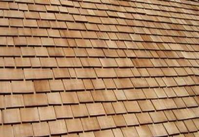 Roofing materials winter garden wood shingles